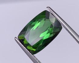 VVS Quality 4.24 Cts Natural Tourmaline Master Cut Vivid Green Color