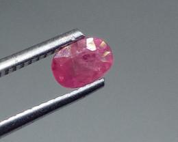 0.80cts Vivid Purplish Red Natural Burmese Ruby , Untreated Gemstone