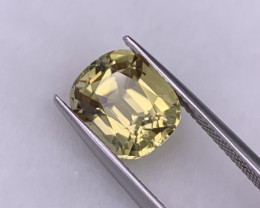 4.44 Cts VVS Custom Cut Natural Tourmaline Beautiful Yellow