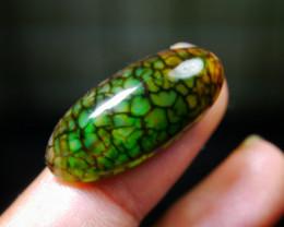 24.25 CT Beautiful Green Dragon Skin Chalcedony Agate