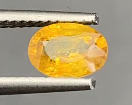 0.88 Carats Yellow  Sapphire Gemstone
