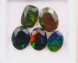 4.78ct Natural Ethiopian Welo Solid Smoked Faceted Opal Lot E89