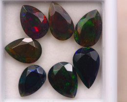 5.31ct Natural Ethiopian Welo Solid Smoked Faceted Opal Lot E90