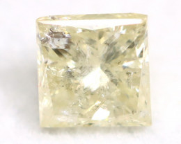 Yellow Diamond 0.66Ct Untreated Genuine Fancy Diamond AT0125