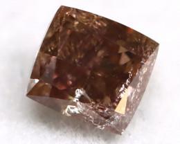 Purplish Brown Diamond 0.22Ct Untreated Genuine Fancy Diamond AT0132