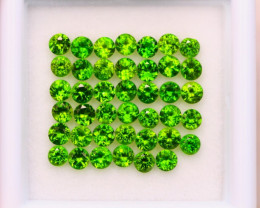 3.12ct Natural Chrome Diopside Round Cut Lot E93
