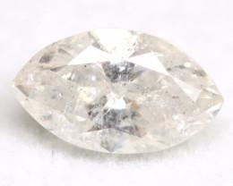 White Diamond 0.54Ct Untreated Genuine Fancy Diamond AT0134
