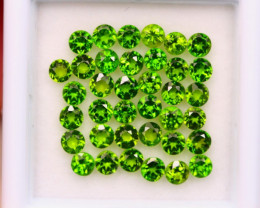 3.52ct Natural Chrome Diopside Round Cut Lot E95