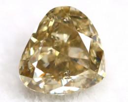 Brownish Green Diamond 0.27Ct Untreated Genuine Fancy Diamond AT0141