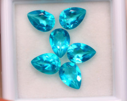 4.94ct Natural Paraiba Color Topaz Pear Cut Lot E97