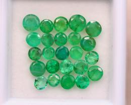 3.70ct Natural Zambia Green Emerald Round Cut Lot E99