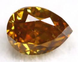 Brownish Orange Diamond 0.23Ct Untreated Genuine Fancy Diamond AT0151