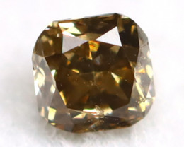 Yellowish Brown Diamond 0.09Ct Untreated Genuine Fancy Diamond AT0154