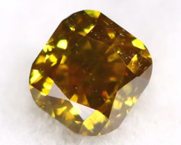 Yellowish Green Diamond 0.13Ct Untreated Genuine Fancy Diamond AT0159