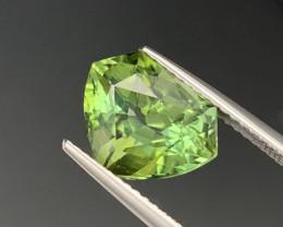 4.52 Cts Master Cut Top Grade Natural Tourmaline Eye Catching Green Color