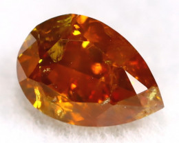 Intense Orange Diamond 0.26Ct Untreated Genuine Fancy Diamond AT0163