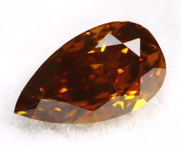 Brownish Orange Diamond 0.19Ct Untreated Genuine Fancy Diamond AT0168