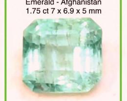 Pretty Blue Tinted Bright Mint Green Emerald - Afghanistan Ref 4