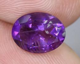 1.48 Crt Natural Amethyts Faceted Gemstone.( AB 83)