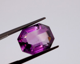 12.19 CT FREE SHIPPING! Custom Fancy Cut Purple Amethyst (Uruguay)