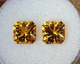 5,98ct Golden Citrine pair - Master cut!