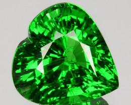 ~LOVELY~3.07 Cts Natural Vivid Green Tsavorite Garnet Heart Cut Kenya