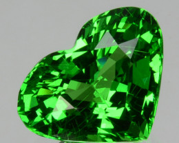 ~PRETTY~2.31 Cts Natural Vivid Green Tsavorite Garnet Heart Cut Kenya