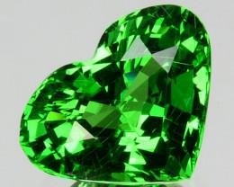 ~PRETTY~2.31 Cts Natural Vivid Green Tsavorite Garnet Heart Cut Kenya