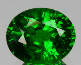 ~GORGEOUS~3.06 Cts Natural Vivid Green Tsavorite Garnet Oval Cut Kenya