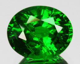 ~GORGEOUS~3.06 Cts Natural Vivid Green Tsavorite Garnet Oval Cut Kenya
