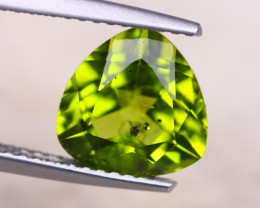 2.97Ct Natural Green Peridot Trillion Cut Lot A1033