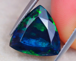 2.17ct Natural Ethiopian Welo Solid Smoked Faceted Trillion Lot B2112