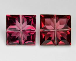 2.94 Cts 2 pcs Red Color Natural Rhodolite Garnet Gemstones