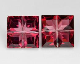 3.27 Cts 2 pcs Red Color Natural Rhodolite Garnet Gemstone