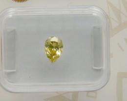 0.54 Natural Fancy  greenish Yellow Diamond GIA certified  Pear
