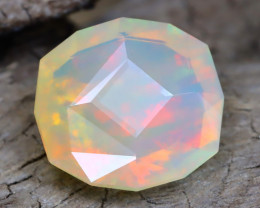 Welo Opal 3.08Ct Master Cut Natural Ethiopian Flash Color Welo Opal A0102