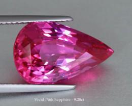 Mind-blowing Rich Vivid Pink Sapphire 9.27ct Pear (Drop) - Heat - Srilanka