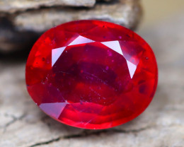 Red Ruby 5.33Ct Oval Cut Blood Red Ruby B0104