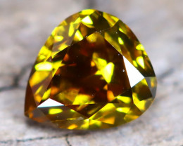 Greenish Orange Diamond 0.32Ct Untreated Genuine Fancy Diamond AT0171