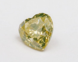 0.55ct Natural Fancy brownish Greenish Yellow Diamond GIA certified