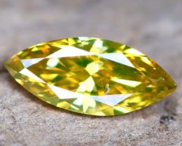 Greenish Yellow Diamond 0.23Ct Untreated Genuine Fancy Diamond AT0180