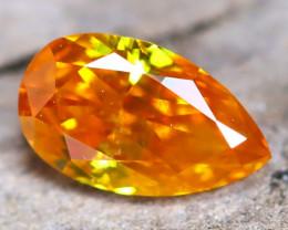 Intense Orange Diamond 0.23Ct Untreated Genuine Fancy Diamond AT0184