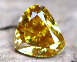 Yellow Diamond 0.27Ct Untreated Genuine Fancy Diamond AT0196