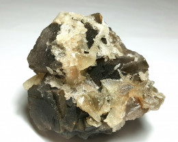 Amazing Natural color Fluorite cluster combine with Calcite 1535Cts-P