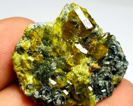 Amazing Natural color Damage free Epidote combine with Mica  54Cts-A