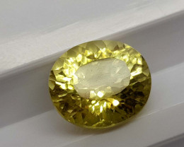 4Crt Lemon Quartz Concave Cut Natural Gemstones JI37