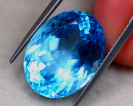 21.17ct Natural Swiss Blue Topaz Oval Cut Lot V7789