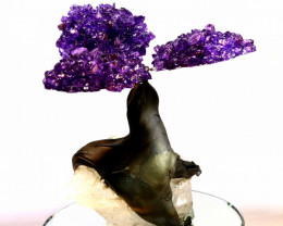 1100 CTS  BEAUTIFUL AMETHYST TREE CARVING   LT-1021