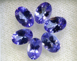 2.86CTS  TANZANITE  FACETED  STONE PARCEL  PG-3417