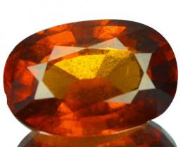 3.80 Cts Natural Hessonite Garnet Cinnamon Orange Oval Sri Lanka